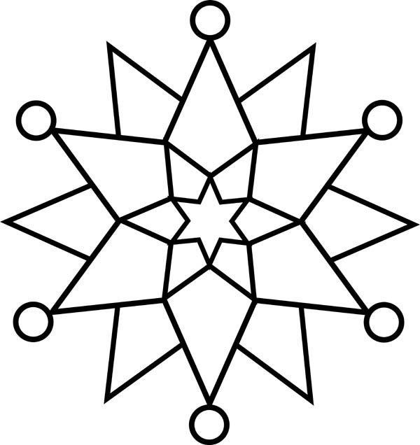 elegant christmas snowflakes coloring page kids play color - Christmas Snowflake Coloring Pages