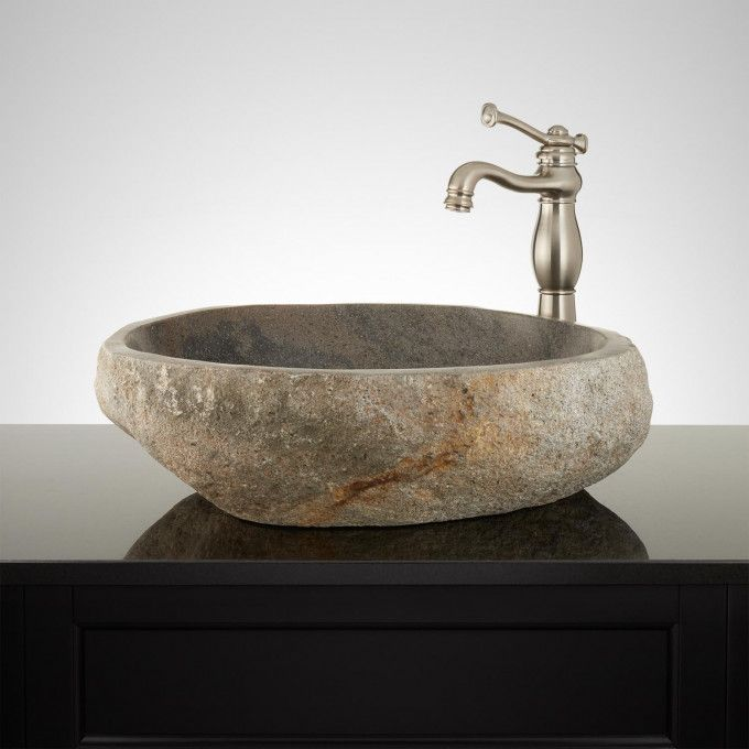 Kazina Natural River Stone Vessel Sink in 2018 Bath Pinterest - Vessel Sinks Bathroom