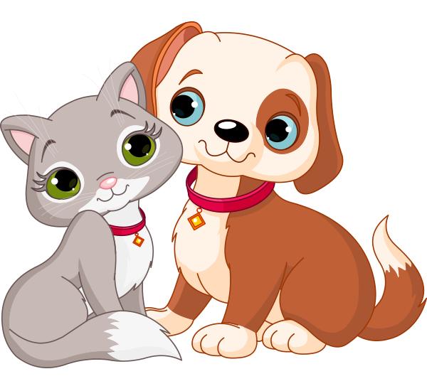Dog and Cat Love รูปสัตว์น่ารัก