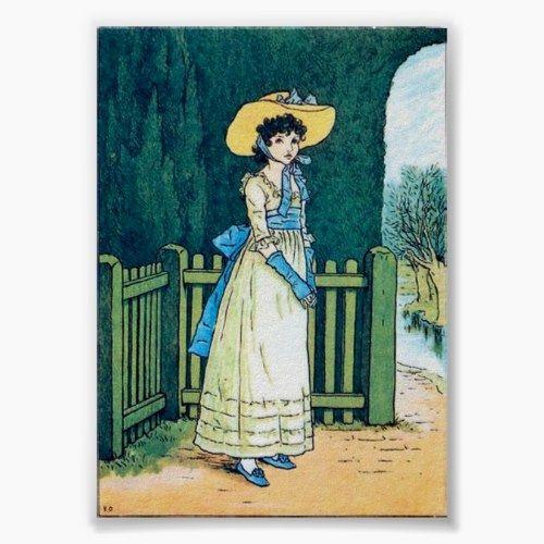 Marigold Garden, Kate Greenaway Poster #englishdresses1880