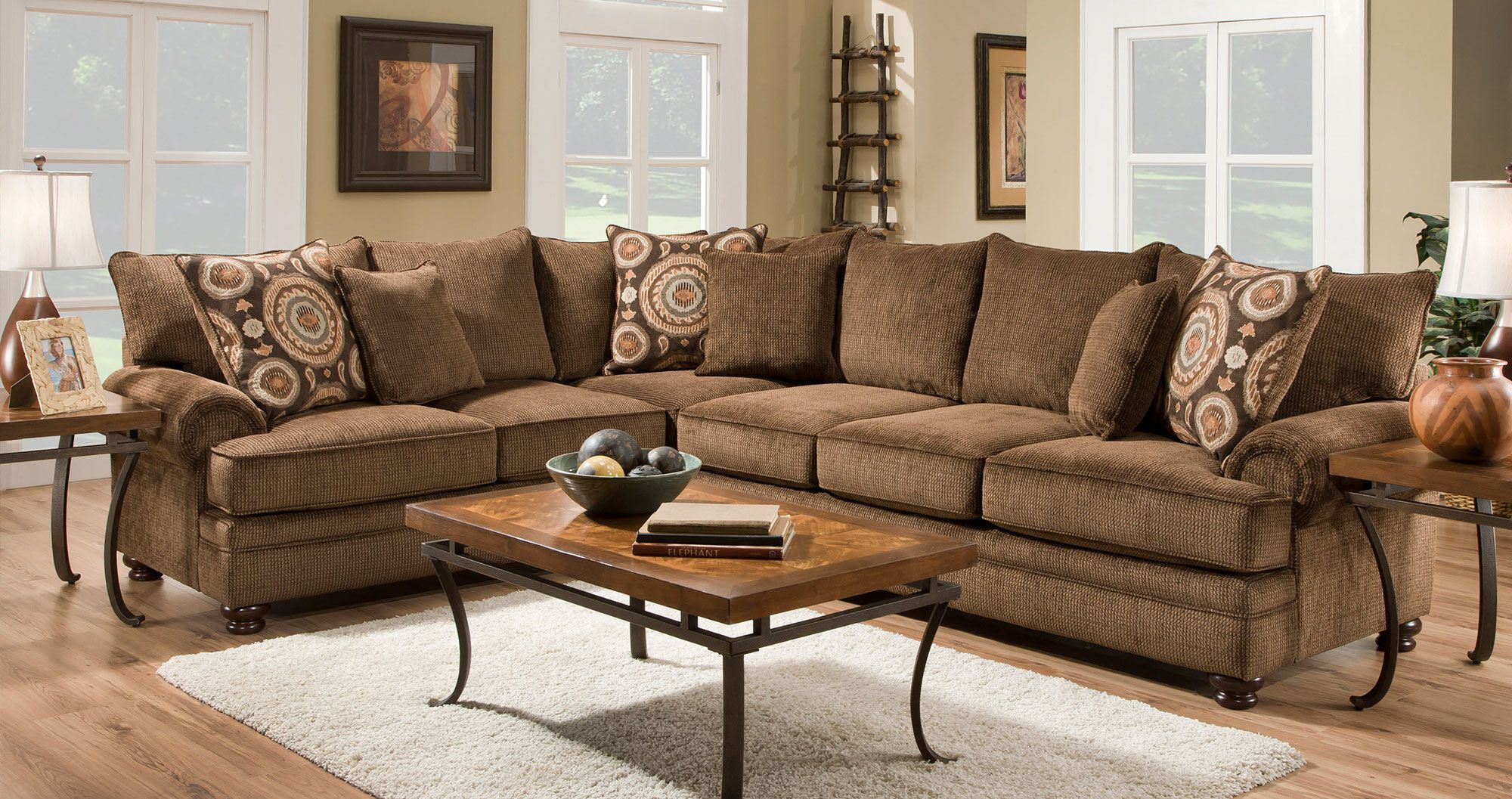 Chelsea Home Furniture Ria Sectional Sofa   Create A Center For  Entertainment With The Chelsea Home Furniture Ria Sectional Sofa .