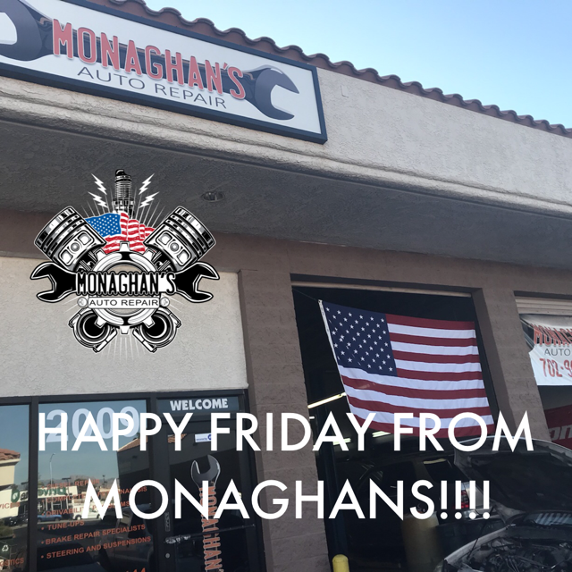 Happy Friday Everyone Just Because It S Friday Doesn T Mean You Can T Come In For Any Auto Repairs You Need During Monagha Auto Repair Shop Auto Repair Repair