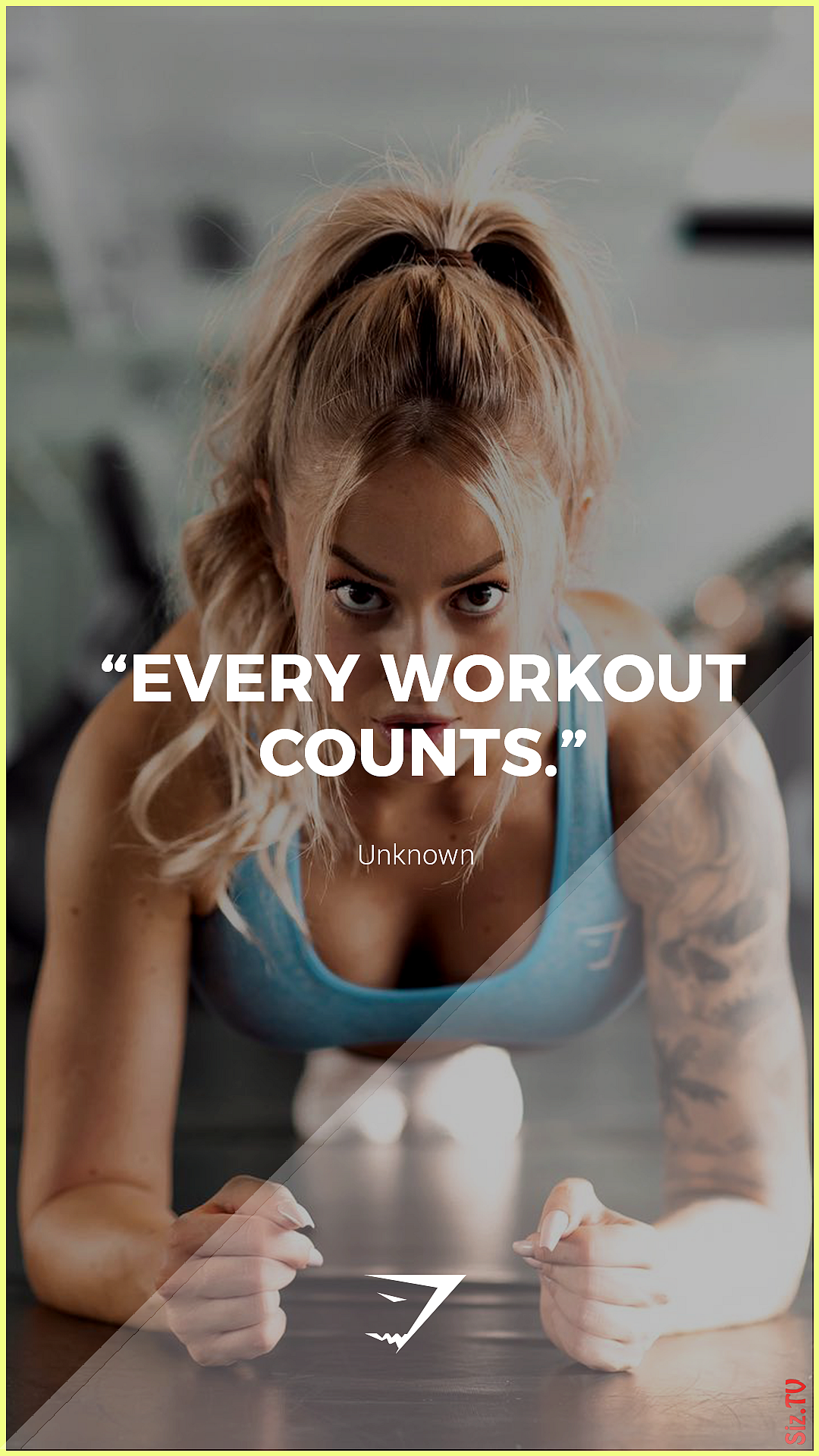 Every workout counts  Gymshark Gymshark Quotes Motivational Inspiration Motivate Phrases Inspire Fit...