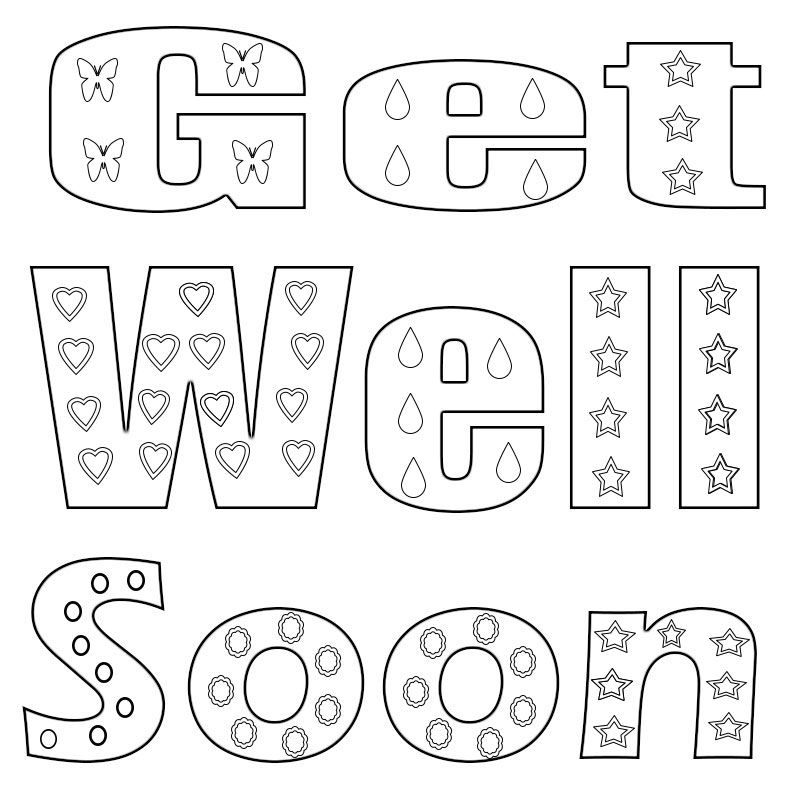 Get Well Soon Coloring Pages Coloring Pages For Kids Coloring Pages Crayola Coloring Pages