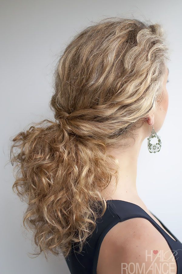 Twisted Ponytail Easy Hairstyles For Curly Hair Curls