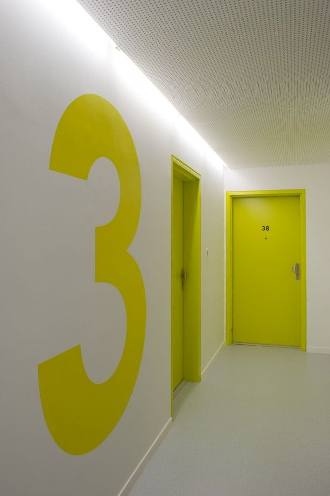 Gallery of OP13 PHD Architectes 26 Signage Corridor and Neon
