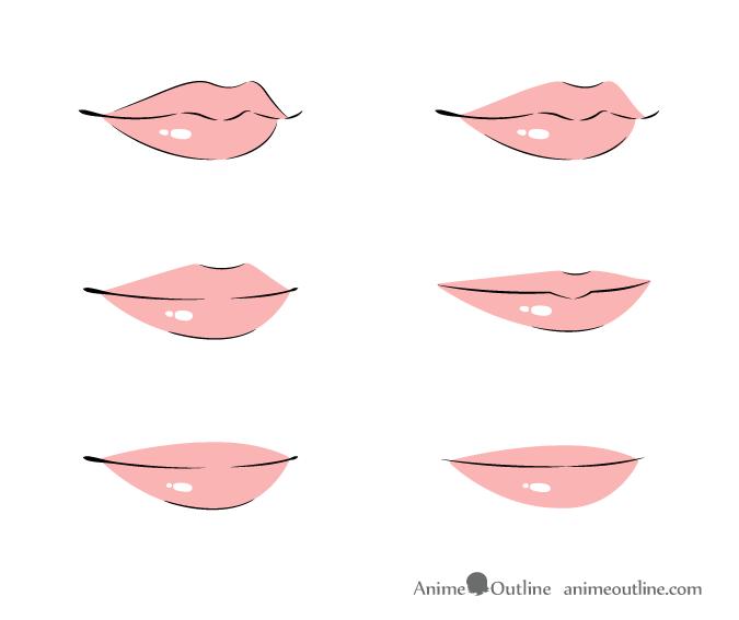 How To Draw Anime Lips Tutorial Animeoutline Anime Lips Anime Drawings Anime Mouth Drawing