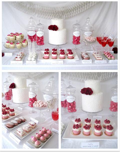 cute dessert table display