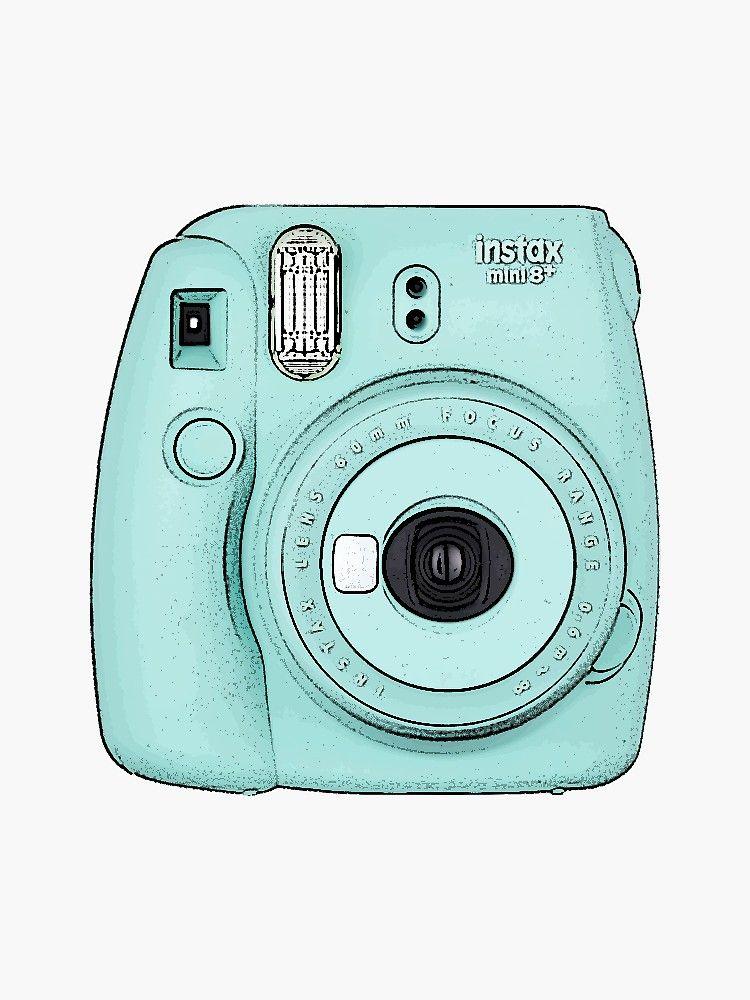 'Camera Blue' Sticker by cherryblue in 2020 Tumblr