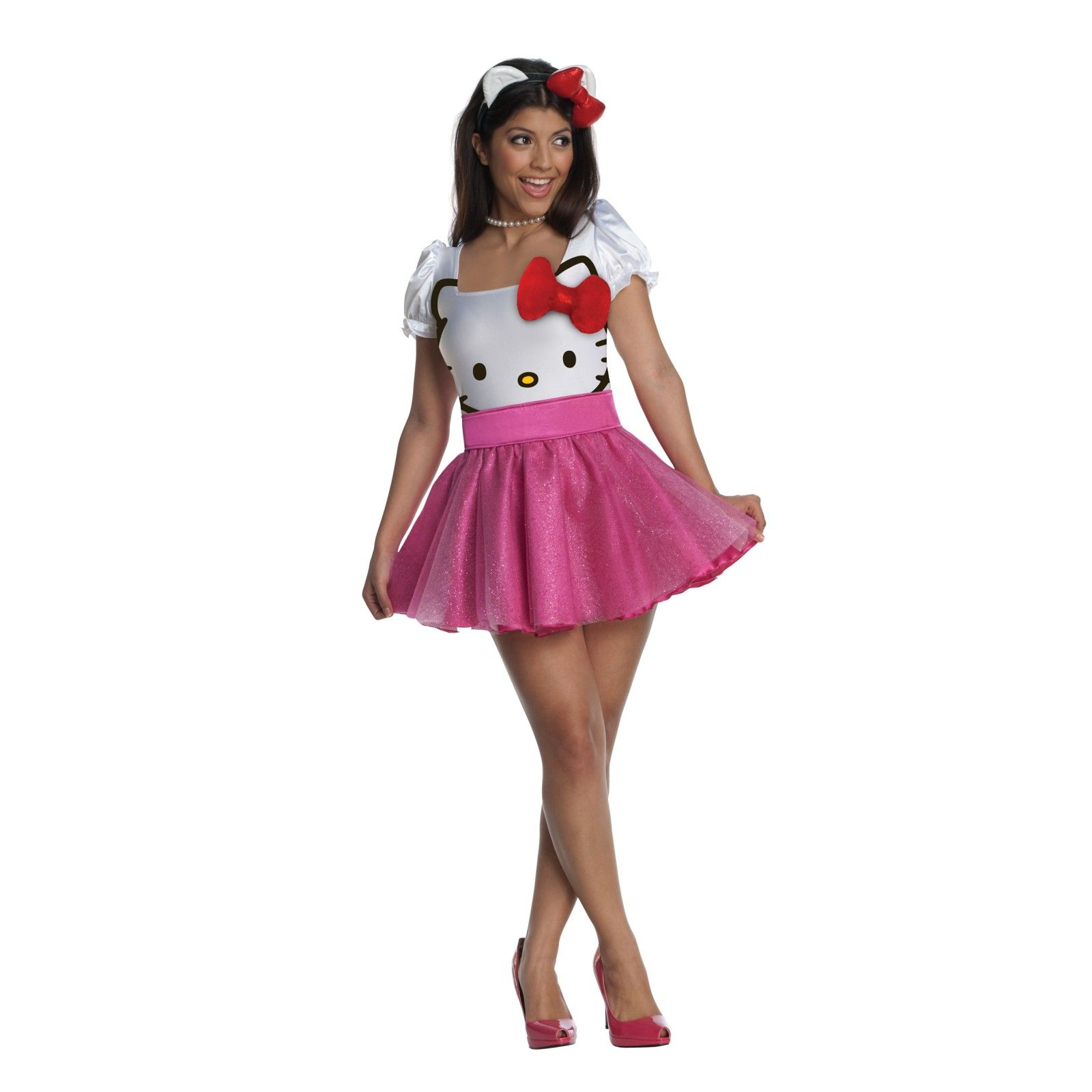 Hello Kitty , Hello Kitty Tutu Dress Teen Costume