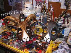 Goblin Art: great mask how-tos.