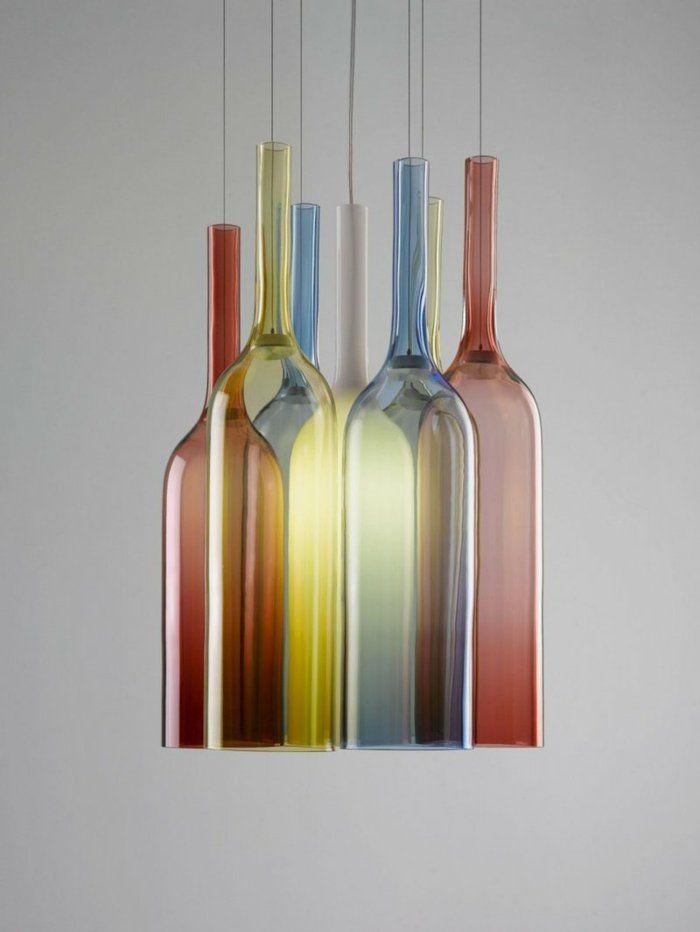 42 upcycling ideen f r diy lampen aus glasflaschen mein tausendsch n pinterest lampen. Black Bedroom Furniture Sets. Home Design Ideas