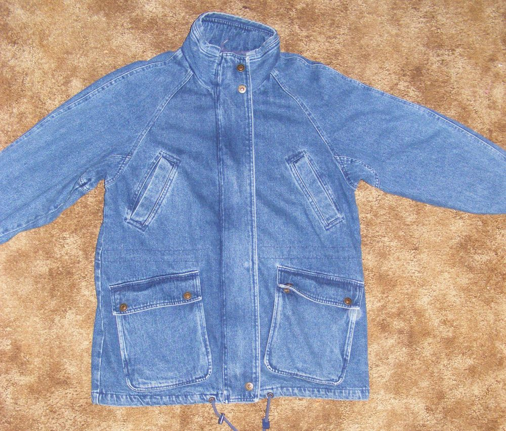 bfc30bfac283d Mens Pacific Trail Lined Denim Jacket SMALL 4 Pocket Jean Coat 3 4 Sleeve   PacificTrail  JeanJacket