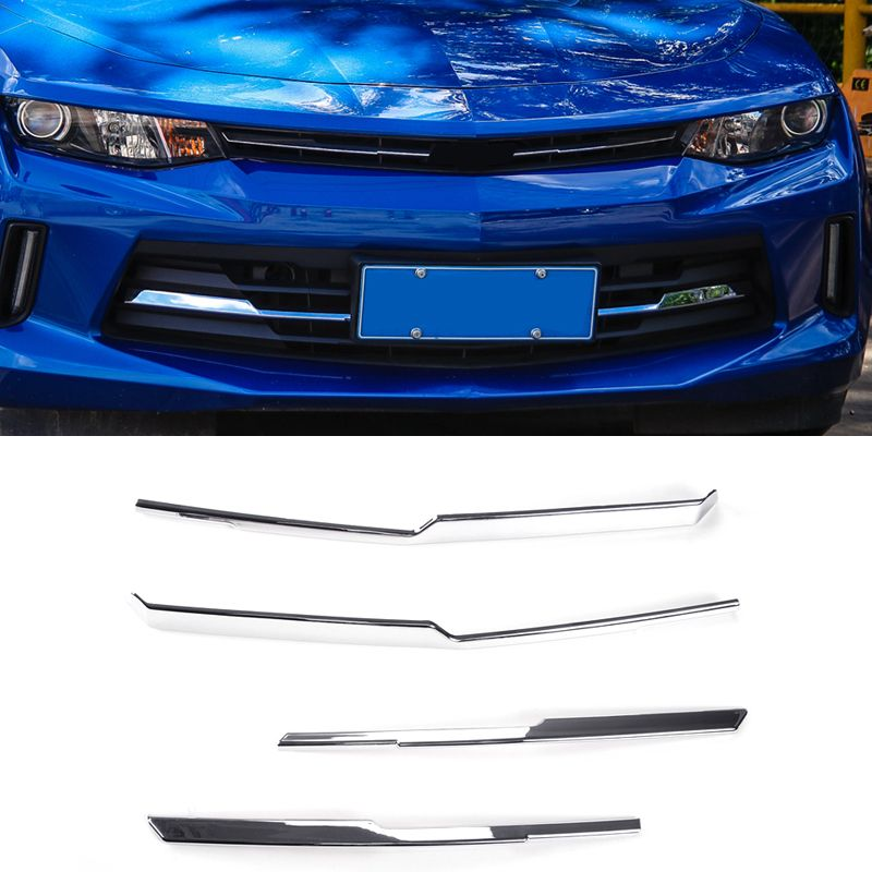 Exterior Front Middle Grill Grille Inserts Cover Strip Decoration