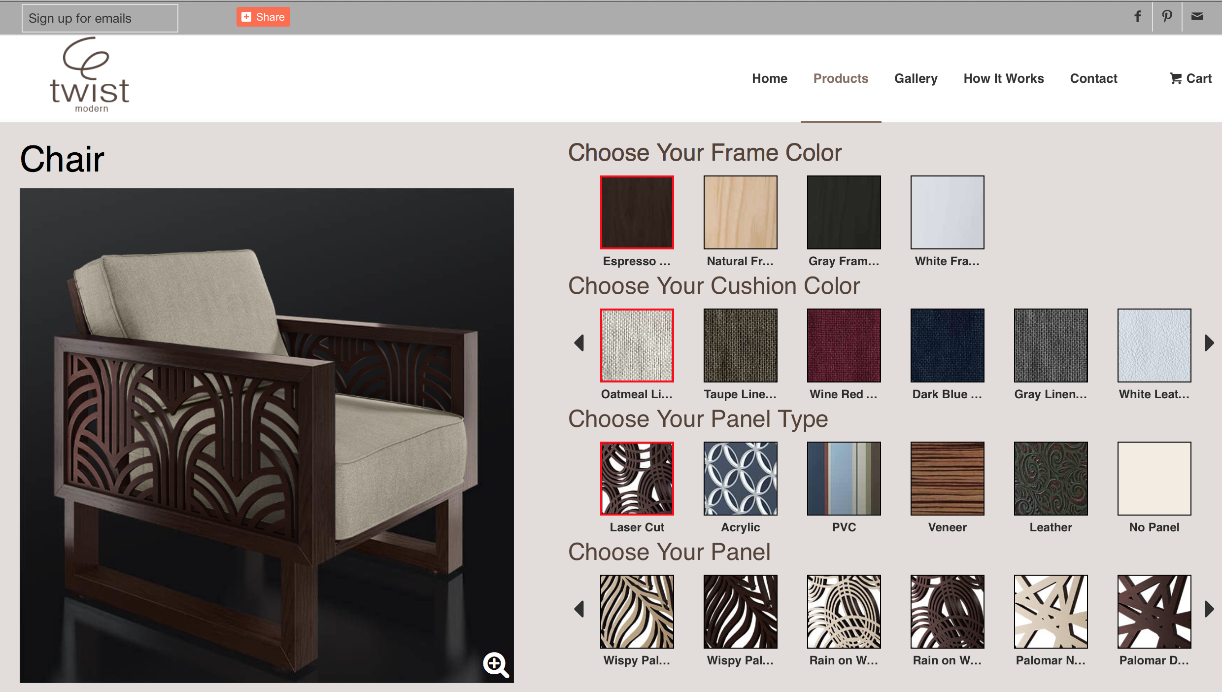 custom furniture. build your own design online from 100s of
