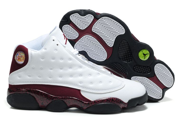 Air Jordan 13 XIII Retro Mens Shoes in White and Dark Red, cheap Jordan If  you want to look Air Jordan 13 XIII Retro Mens Shoes in White and Dark Red,  ...