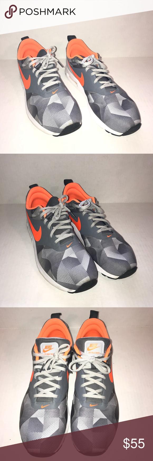 Nike Air Max Tavas, Gray \u0026 Orange, sz