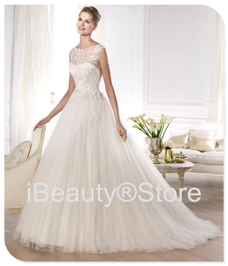 2014 new arrival vestido de noiva elegant design elie saab robe de mariage wedding dresses white brautkleid bridal gowns F289 US $286.00