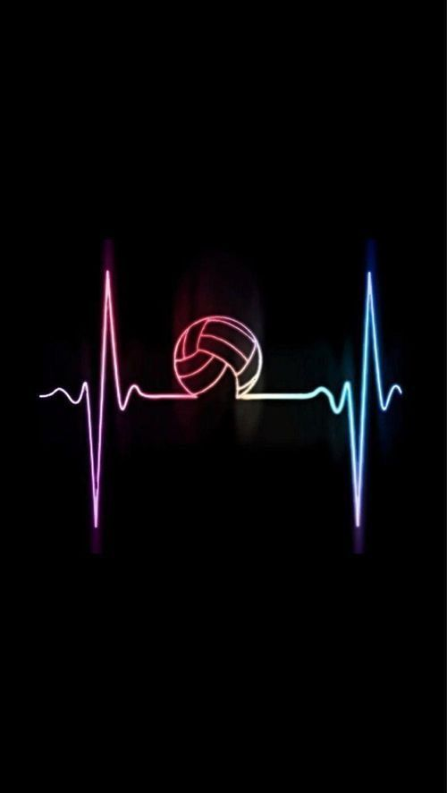 The heartbeat of volleyball Volleyball wallpaper
