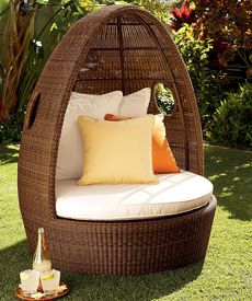 Amazing Wicker Egg Chair... Perfect For Any Small Place To Put!