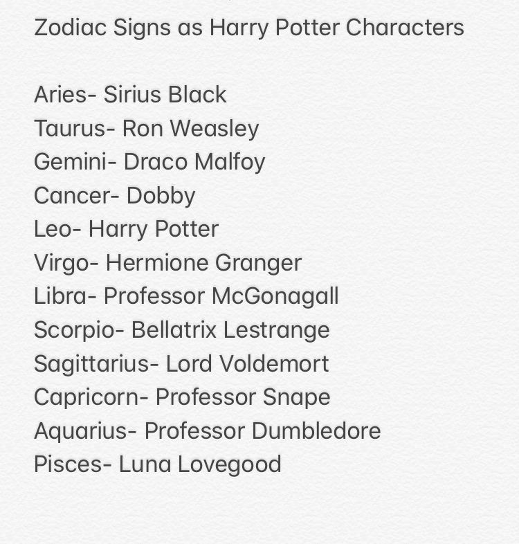 Which Harry Potter Character Are You According To Your Zodiac Sign Harry Potter Zodiac Signs Zodiac Signs Zodiac