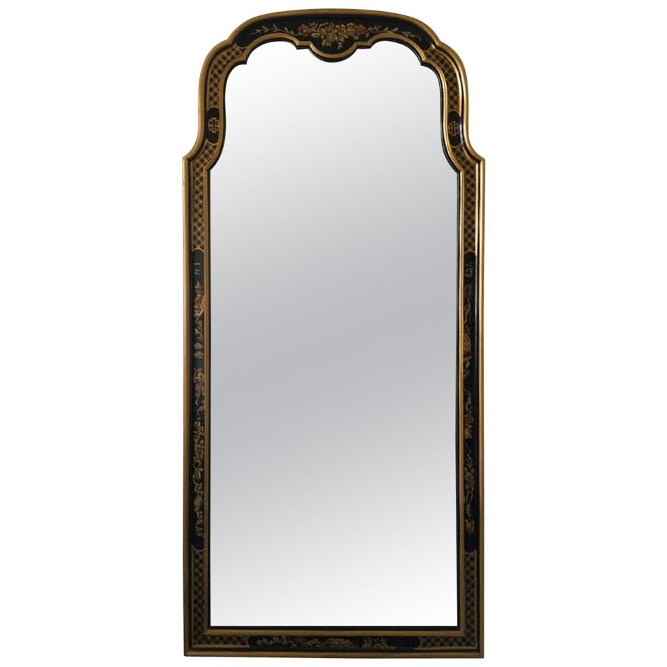 Mirror Large Mid Century Asian Style Wall Mirror By Drexel
