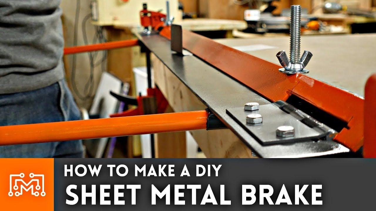 How To Make A Diy Sheet Metal Brake Youtube Sheet Metal Brake Sheet Metal Sheet Metal Bender