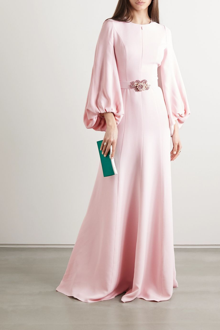 Photo of Embellished crepe gown