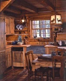 small log cabin plansstorybook style for living happily ever after - Log Home Plans Small Kitchen