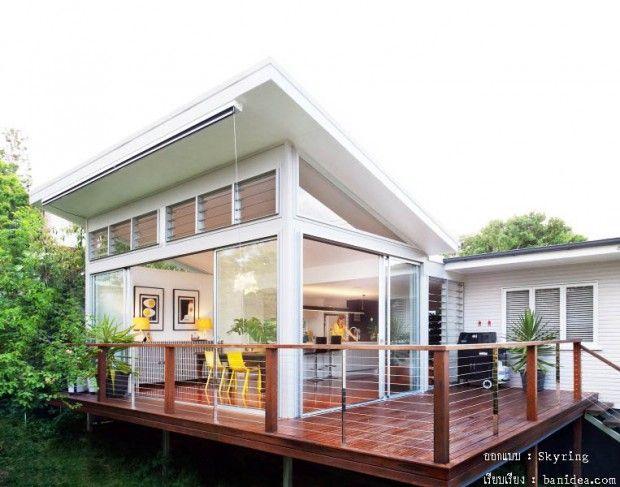 บ านเป ดโปร ง House On Stilt House Design House With Porch