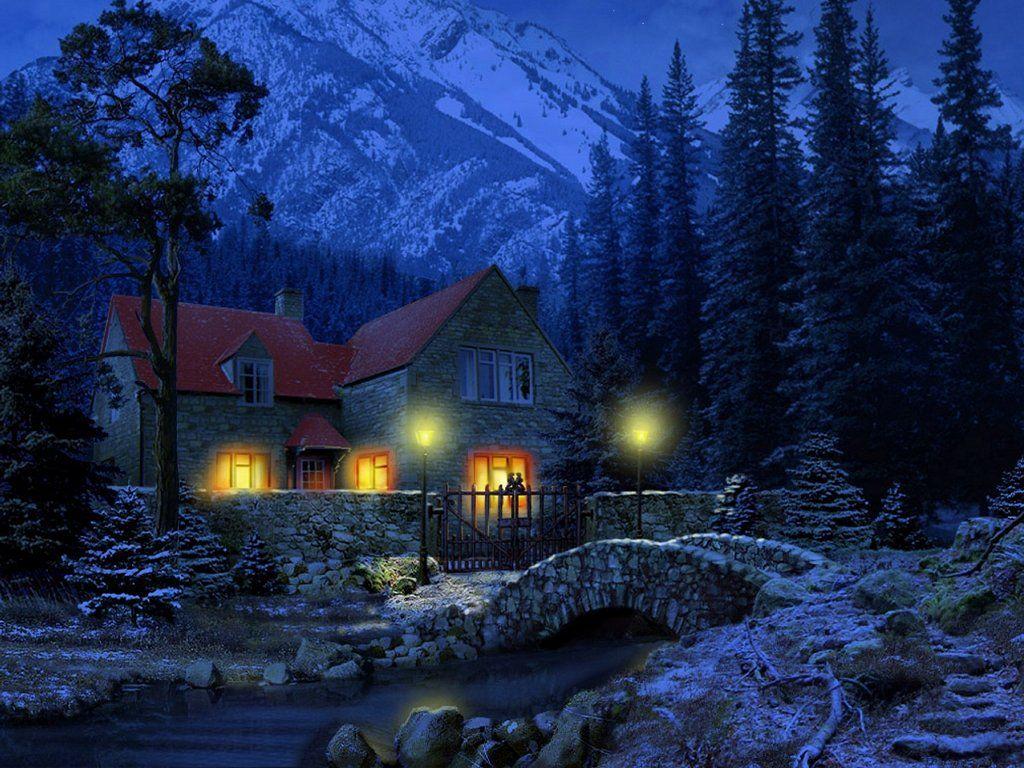 Night Snow Wallpaper
