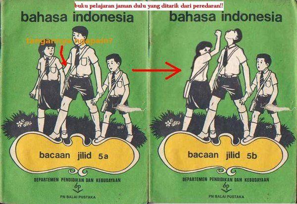 Bahasa Indonesia | Buku pelajaran, Buku tua, Lucu