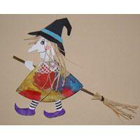 Hexe Bastelarbeit Basteln Karneval Pinterest Handicraft Witch