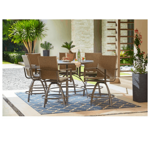 Save 50 Off Patio Furniture At Home Depot Swaggrabber Outdoor Balcony Outdoor Patio Table Patio Furniture Dining Set