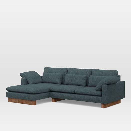harmony down filled 2 piece chaise sectional casa sofa cushions rh pinterest com