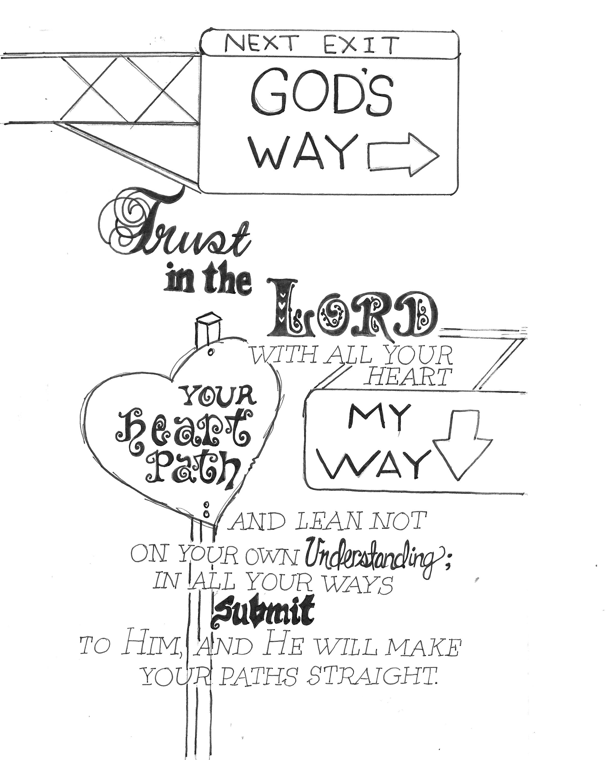 God Lead Me To Recreate This Idea Proverbs 3 5 We Are All Travelers Xox Free Scripture Co Illustrated Faith Bible Bible Coloring Pages Bible Verse Coloring