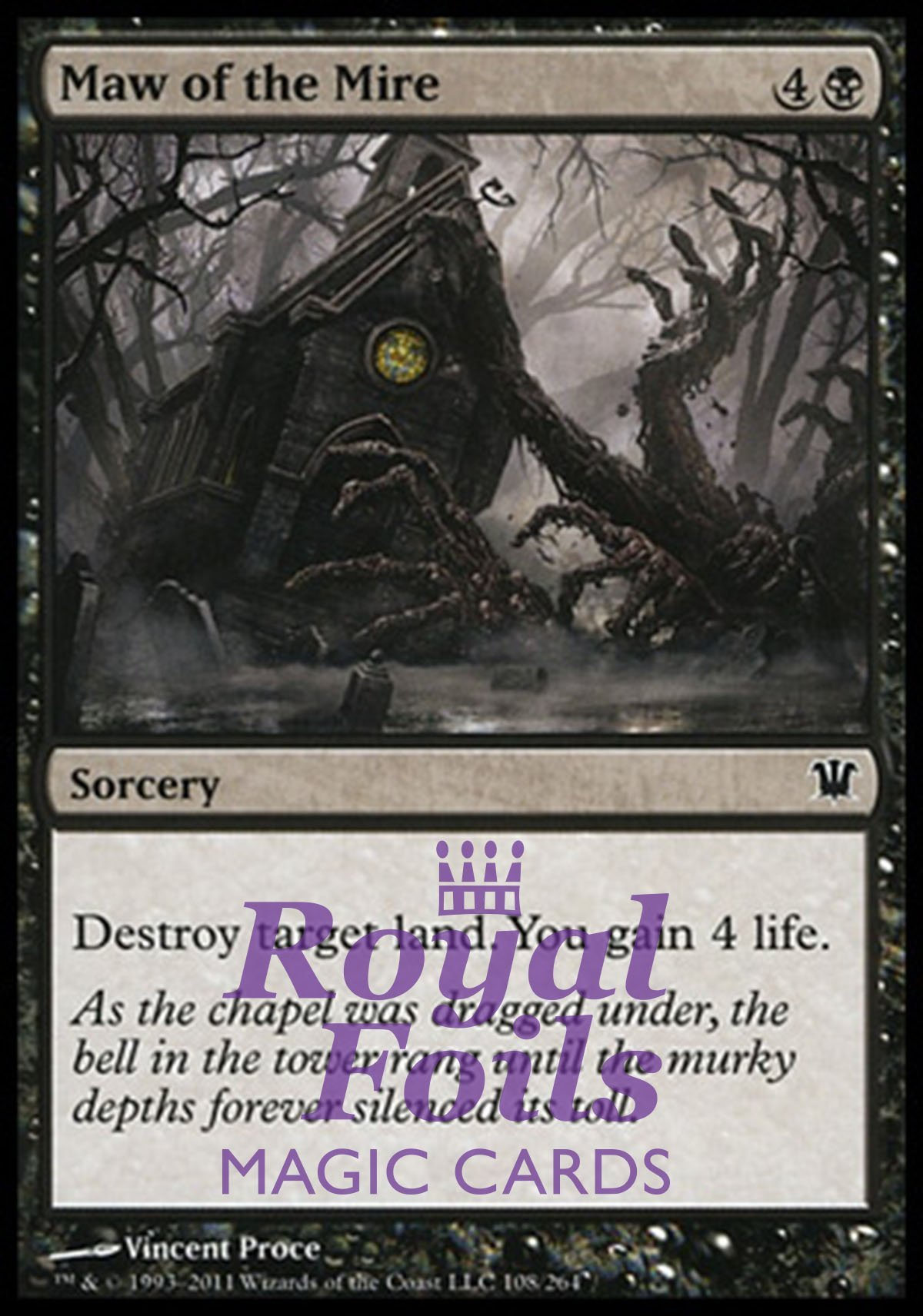 4x foil maw of the mire isd mtg innistrad common mint