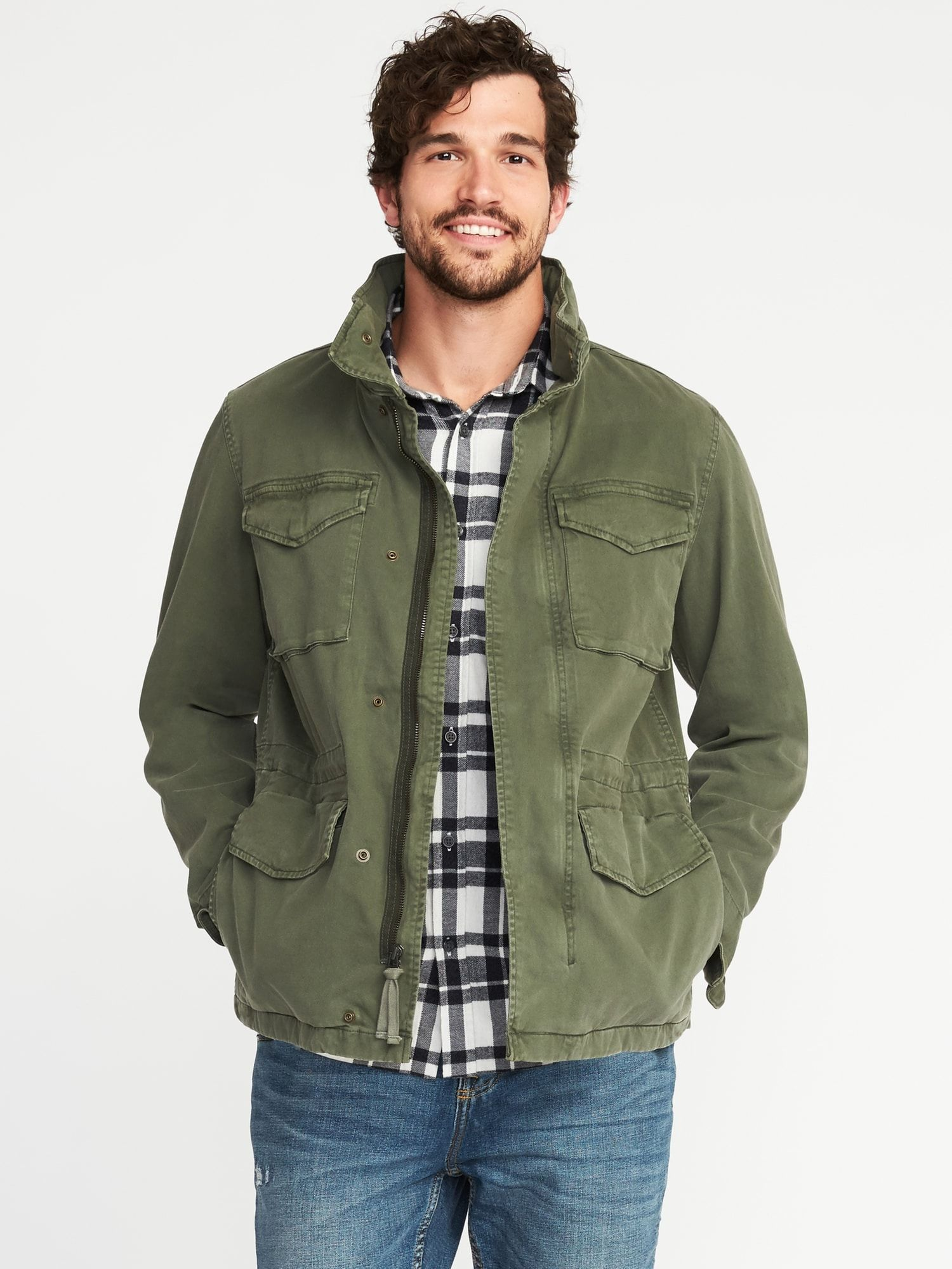 1a3e9557bfe0 Old Navy - Garment-Dyed Built-In-Flex Twill Jacket for Men