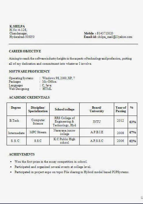 curriculum vitae word download Sample Template Example ofExcellent - resume format word download