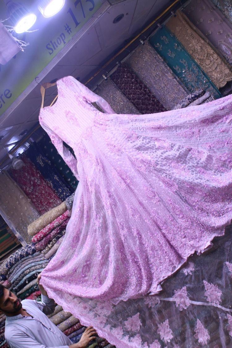 Pakistani Bridal Organza 3d Flower Handwork Cutdana Pakistani Bridal Net Fabric Pakistan Street Style