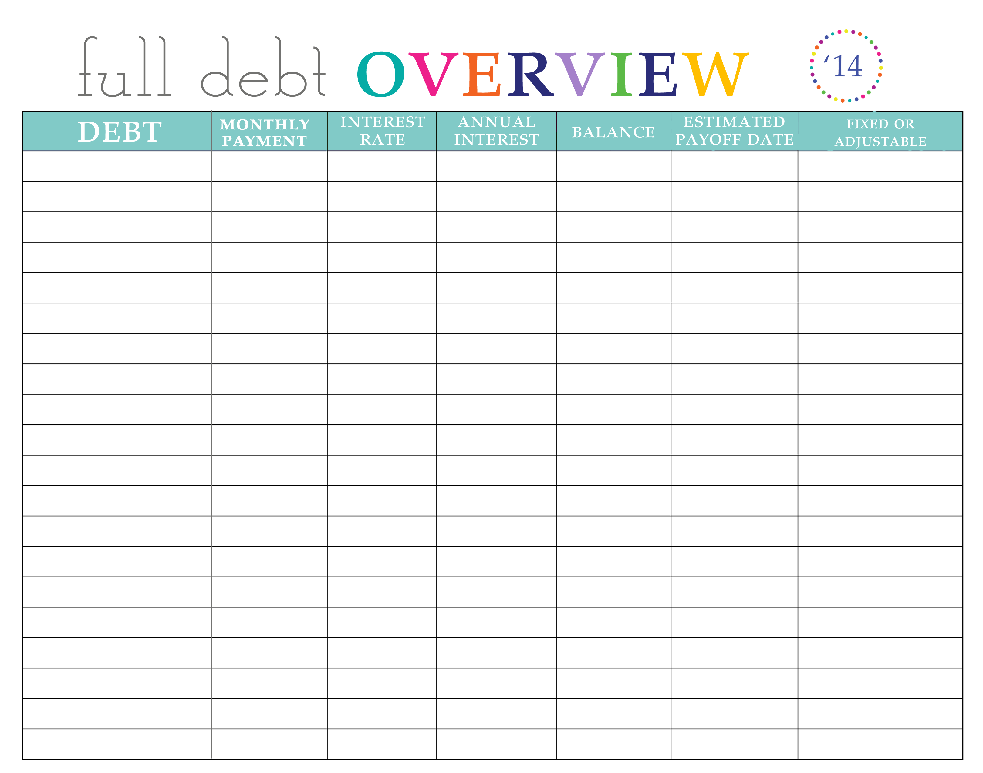 Paying off Debt Worksheets | Printables | Debt payoff, Paying off ...