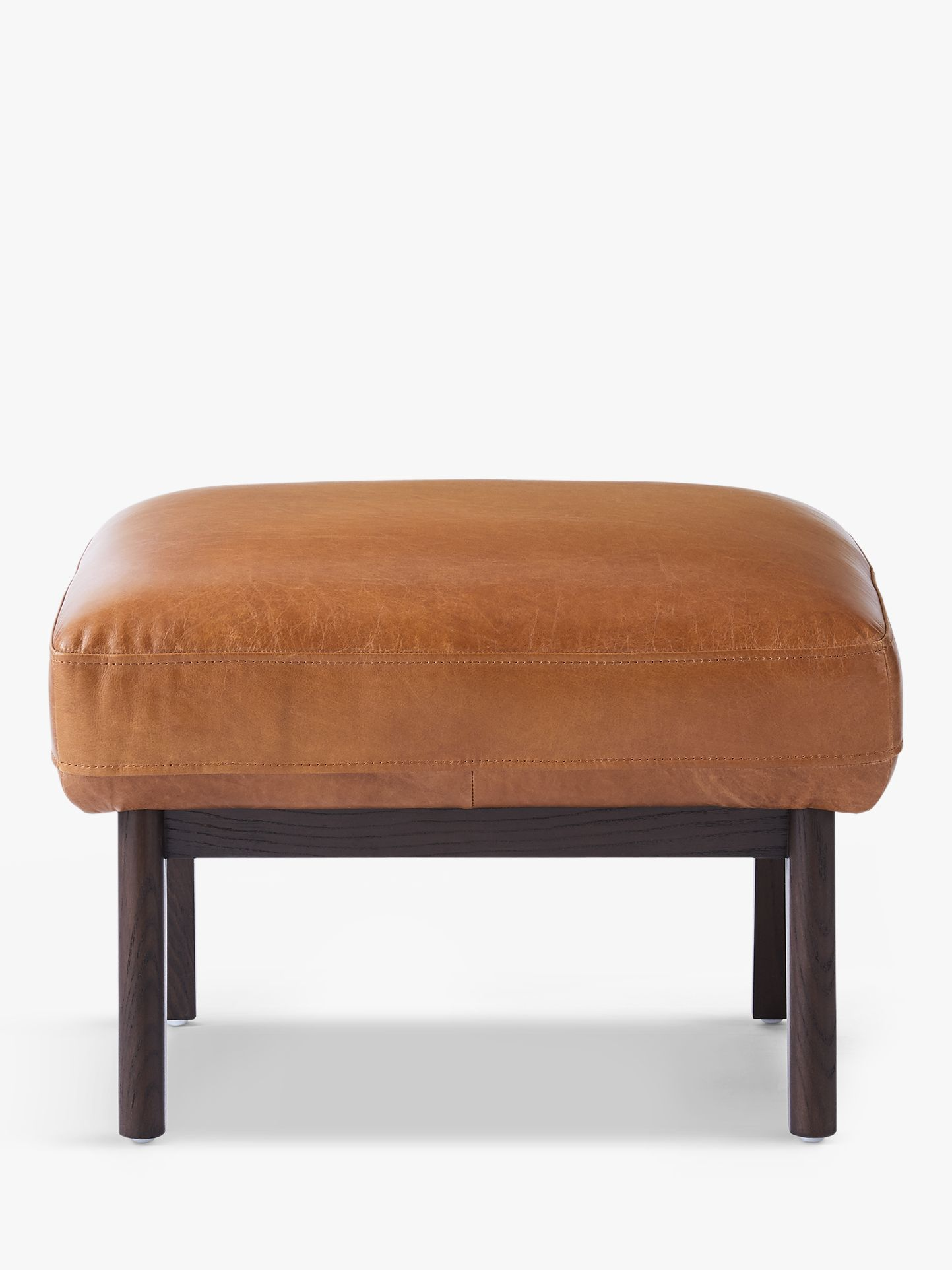 Astonishing West Elm Ryder Leather Ottoman Saddle Leather Products In Pabps2019 Chair Design Images Pabps2019Com
