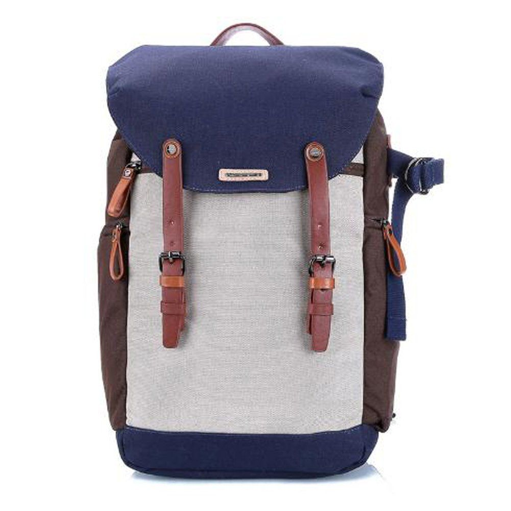 a92a95d7573a Amazon.com   NEPPT Professional Soft Waterproof Nylon Vintage Classic Casual  Camera Backpack Rucksack Shoulder Messenger Bag Case With Waterproof Rain  Cover ...