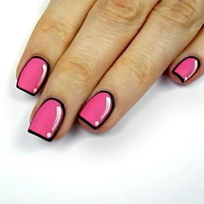 Animated Cartoon Nails With Cutepolishoutlining Nails With A