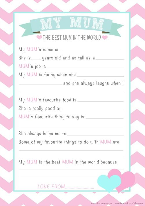 Amazing image with regard to mother's day questionnaire printable