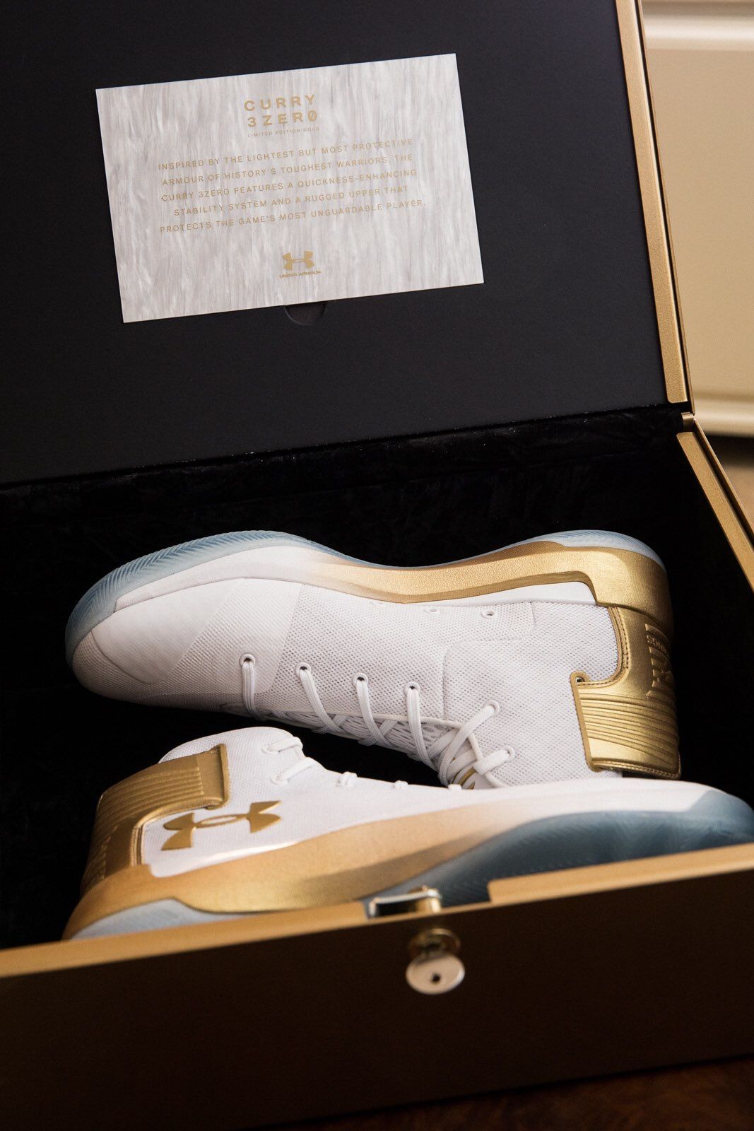 Stephen Curry and Under Armor team up with Footlocker for the scavenger  hunt limited edition release of the Gold Curry3Zero in NYC on Saturday  March 4th. ac2b56e32