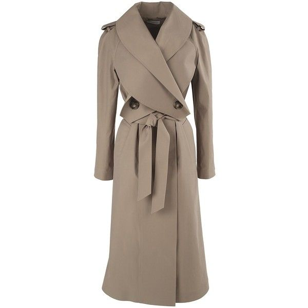Lyst - JW Anderson Wrap Front Techno & Cotton Trench Coat