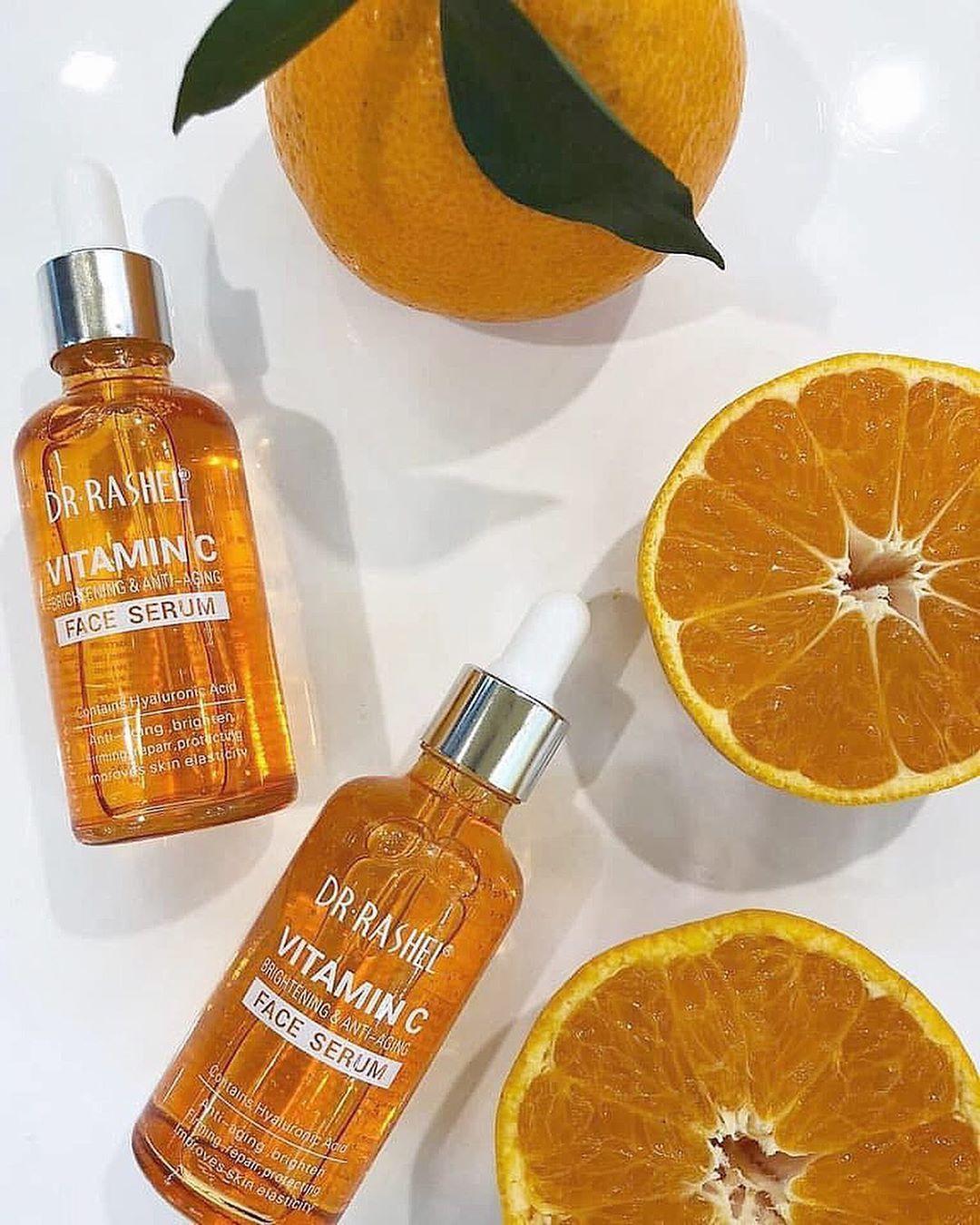 Dr Rashel Vitamin C Face Serum سيروم فيتامين C للوجه وجميع مكوناته يعوض بشرتك عن كافة العانصر التي تجعلها أ Face Serum Vitamin C Face Serum Anti Aging Face