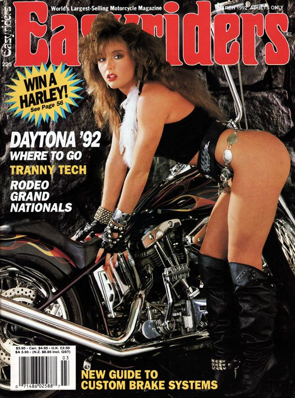 Nude women on the back of harleys