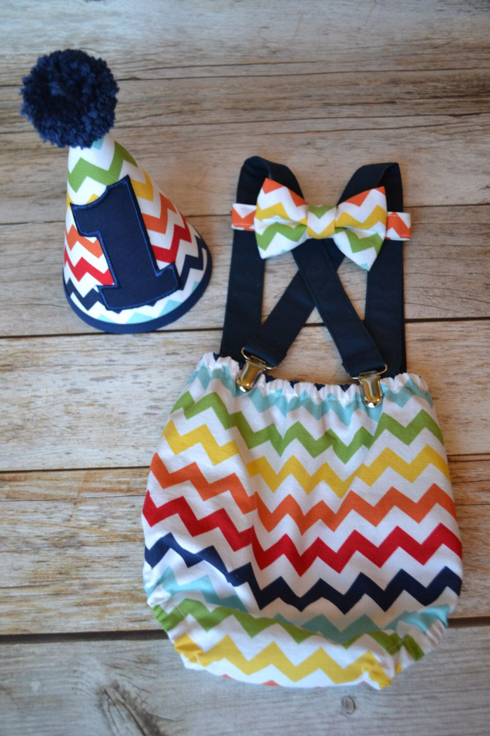 Boy Cake Smash Outfit Rainbow Chevron Cake Smash Outfit Boys 1st